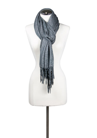 Women's Shimmer Scarf, SILVER, hi-res