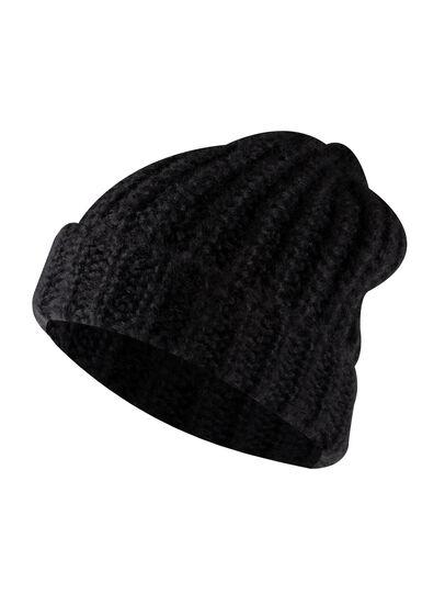 Women's Chunky Knit Hat, BLACK, hi-res