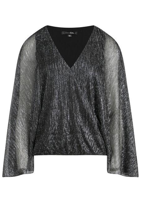 Women's Angel Sleeve Shimmer Top
