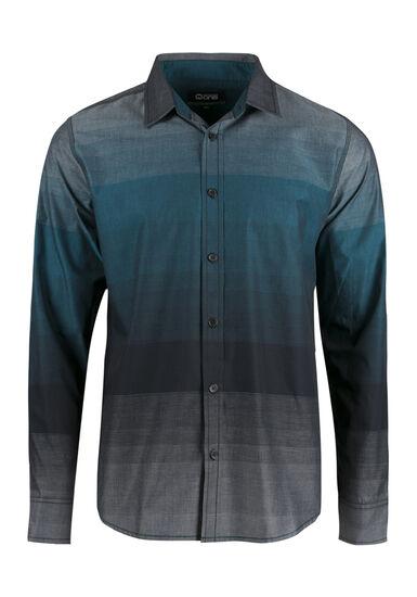 Men's Relaxed Stripe Shirt, TEAL, hi-res
