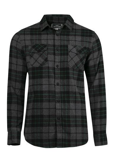 Men's Plaid Flannel Shirt, PINE, hi-res