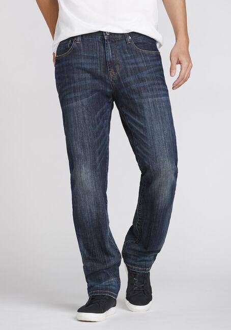 Men's Dark Wash Slim Straight Jeans