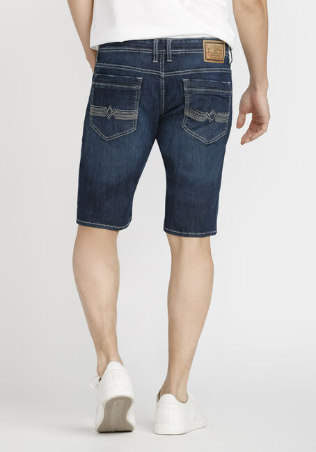 Men's Dark Wash Jean Short, DARK WASH, hi-res