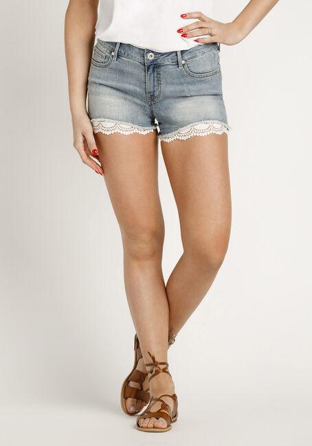 Women's Lace Trim Jean Short