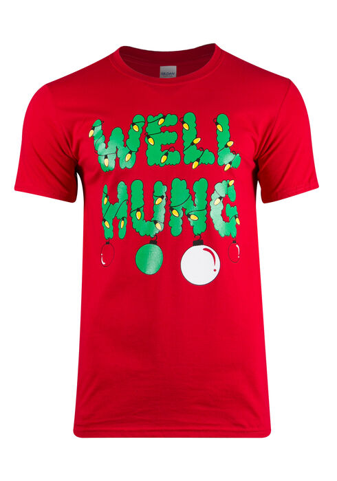 Men's Well Hung Tee, Cherry Red, hi-res