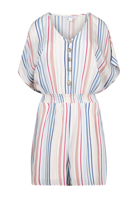 Women's Multi Stripe Romper
