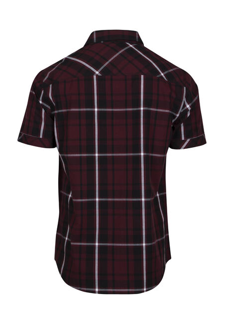 Men's Relaxed Plaid Shirt, FIG, hi-res