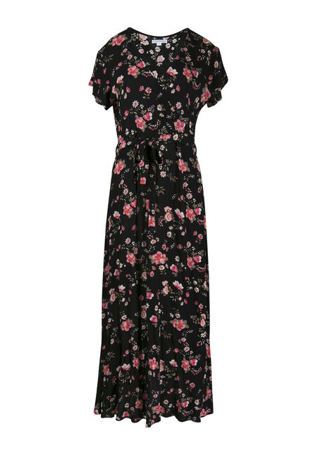 Ladies' Floral Wrap Maxi Dress