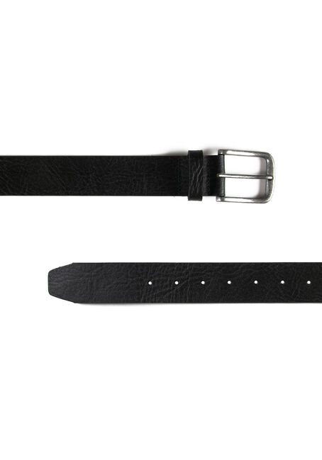 Men's Essential Leather Belt, BLACK, hi-res