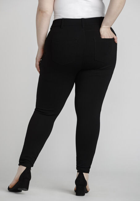 Women's Plus Size Pull On Skinny Pant, BLACK, hi-res