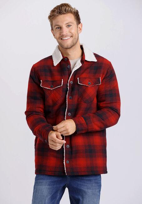 Men's Plaid Flannel Shirt Jacket