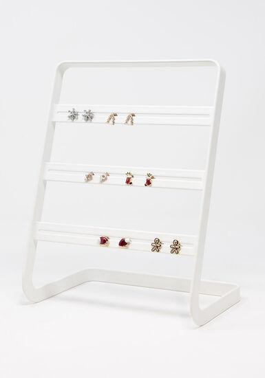 Women's 6 Pair Earring Set, MULTI, hi-res