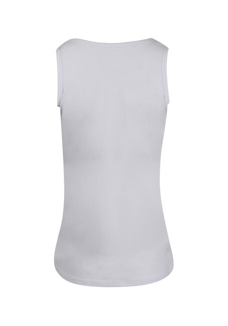 Women's V-neck Tank, WHITE, hi-res
