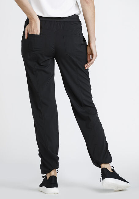 Women's Ruched Pant, BLACK, hi-res