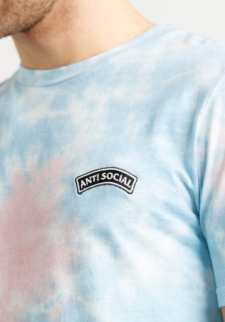 Men's Tie Dye Antisocial Tee, PALE PINK, hi-res