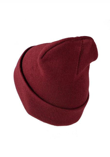 Men's Ribbed Hat, BURGUNDY, hi-res