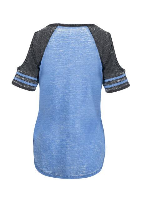 Women's Nope Not Today Cold Shoulder Tee, ISLAND BLUE, hi-res