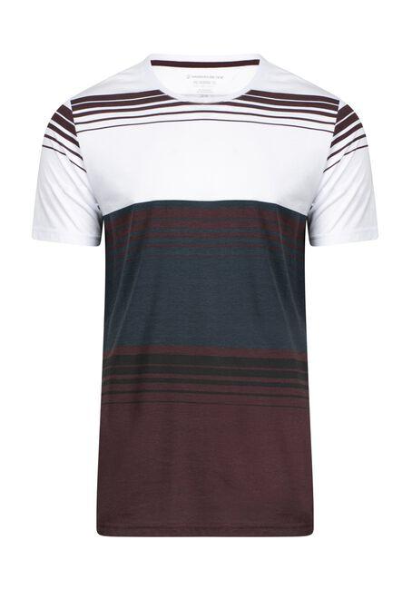 Men's Everyday Stripe Tee, VINEYARD, hi-res