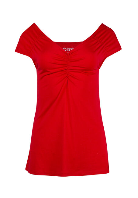 Women's Ruched V-neck Tee