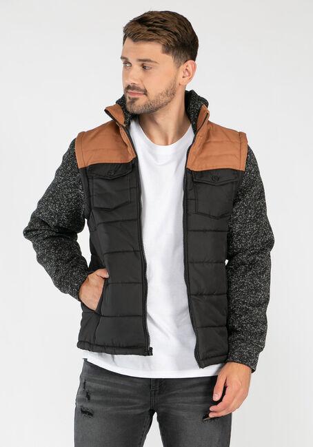 Men's Knit Sleeve Puffer Jacket