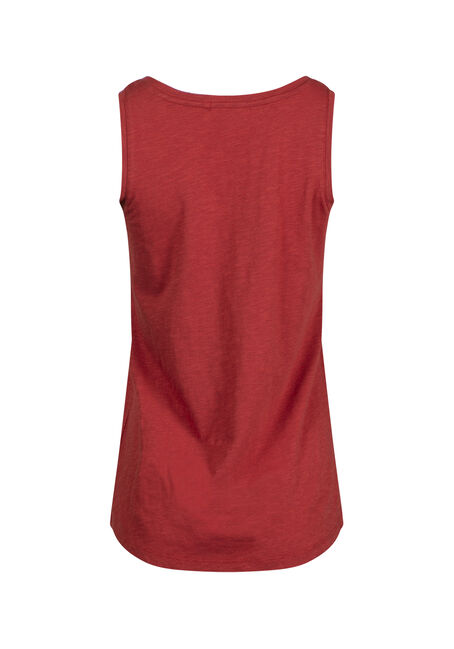 Women's Scoop Neck Tank, BURNT ORANGE, hi-res