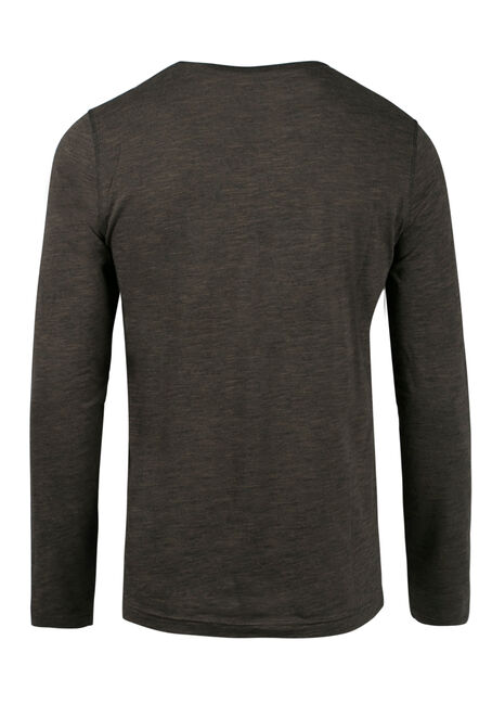 Men's Everyday Y-Neck Tee, Olive, hi-res