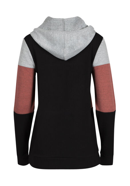 Ladies' Color Block Hoodie, REBEL ROSE, hi-res