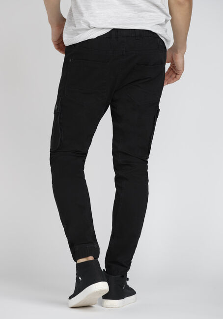 Men's Stretch Twill Cargo Jogger, BLACK, hi-res