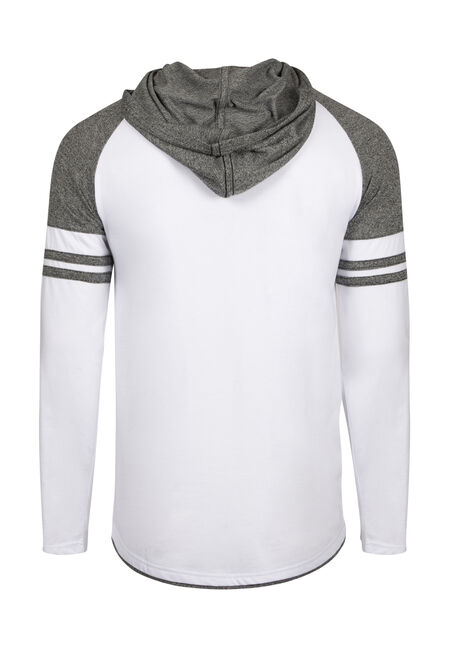 Men's Everyday Hooded Football Tee, WHITE, hi-res