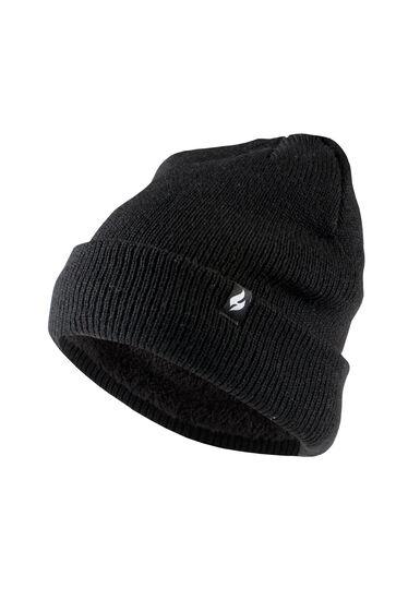 Men's Thermal Hat, BLACK, hi-res