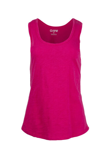 Women's Scoop Neck Slub Tank, FLAMINGO, hi-res