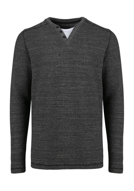 Men's Fooler Henley Sweater