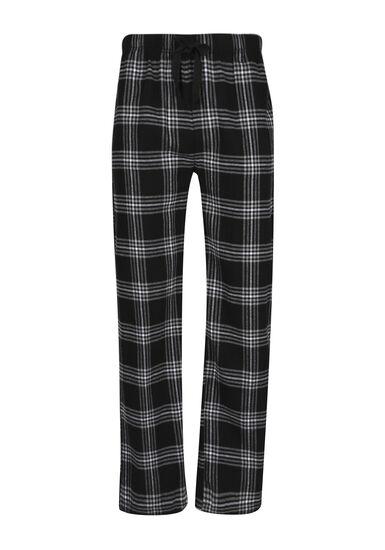 Men's Plaid Lounge Pant, BLK/WHT, hi-res