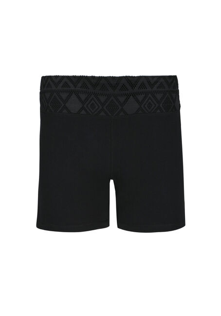 Ladies' Mesh Trim Yoga Shortie