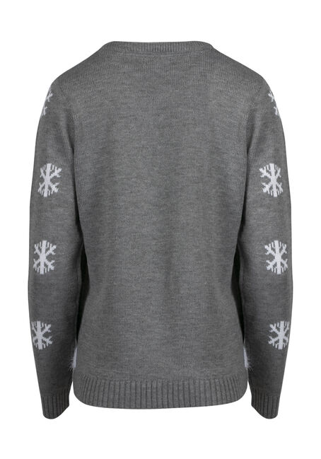 Ladies' Santa Sweater, GREY, hi-res