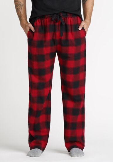 Men's Buffalo Plaid Sleep Pant, RED, hi-res