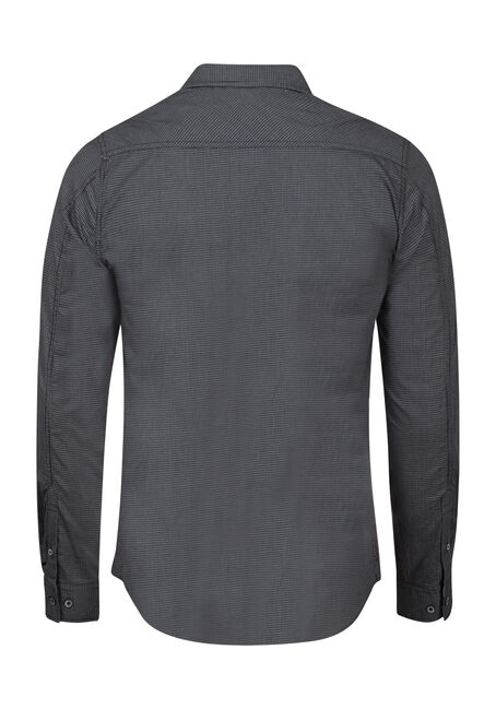 Men's Textured Shirt, BLACK, hi-res
