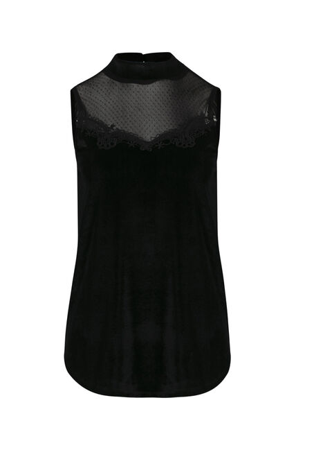 Ladies' Velvet Mock Neck Tank