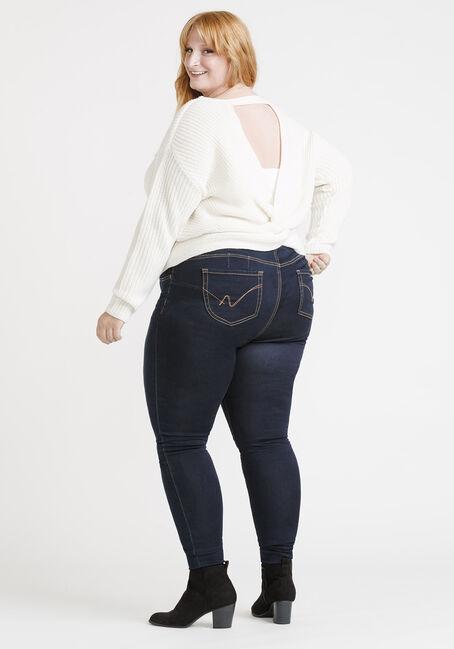 Women's Twist Back Sweater, IVORY, hi-res