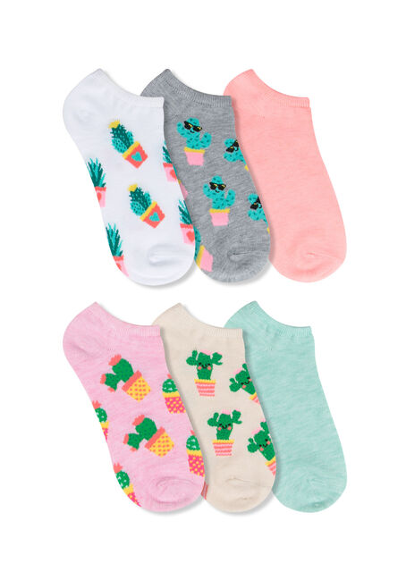 Ladies' 6 Pair Cactus Socks