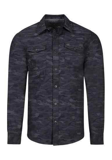 Men's Camo Shirt, CHARCOAL, hi-res