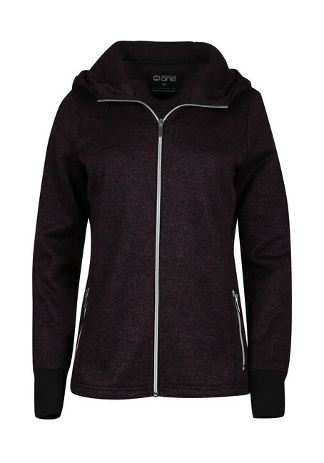 Ladies' Textured Zip Hoodie