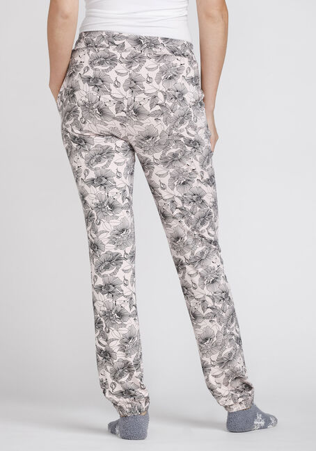 Women's Floral Lounge Pant, DUSTY PINK, hi-res