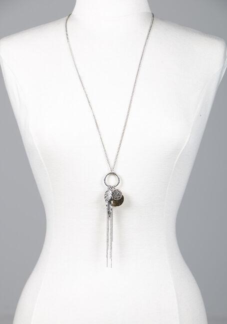 Women's Feather Pendant Necklace