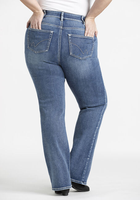 Women's Plus Baby Boot Jeans, MEDIUM WASH, hi-res