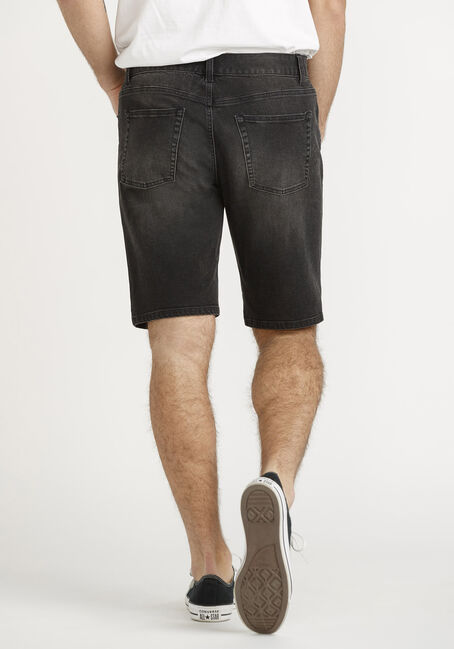 Men's Black Denim Short, BLACK, hi-res