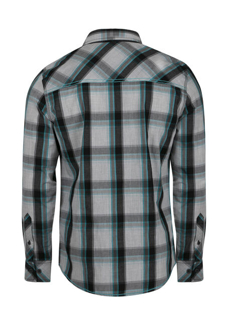 Men's Plaid Shirt, LAGOON, hi-res