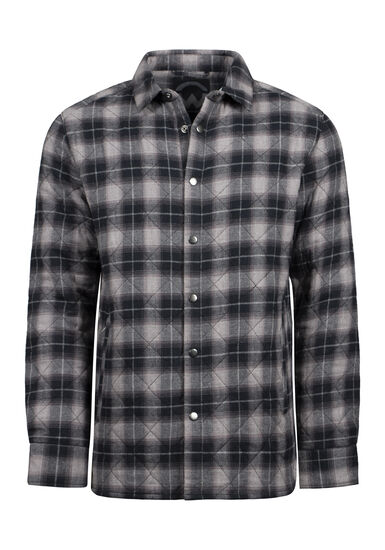 Men's Flannel Work Jacket, ASH, hi-res