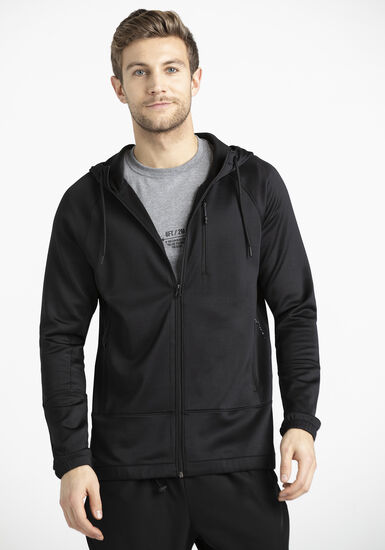 Men's Athletic Zip Hoodie, BLACK, hi-res