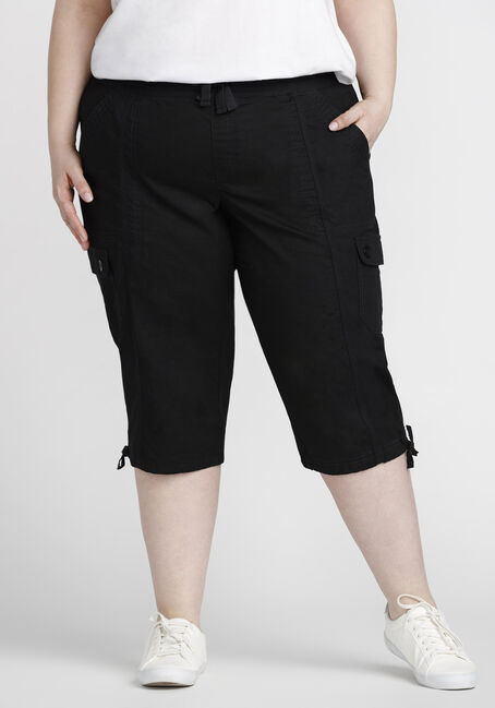 Women's Plus Size Cargo Capri